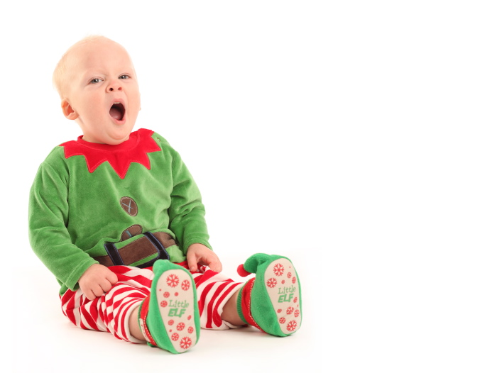 Little Elf Yawning Last minute Christmas Gifts voucher 1PORTRAIT Studio www.1portrait.ie