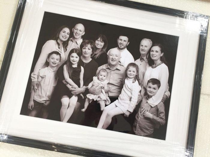 Family Portrait Photography Large Family Group Framed Portrait www.1portrait.ie
