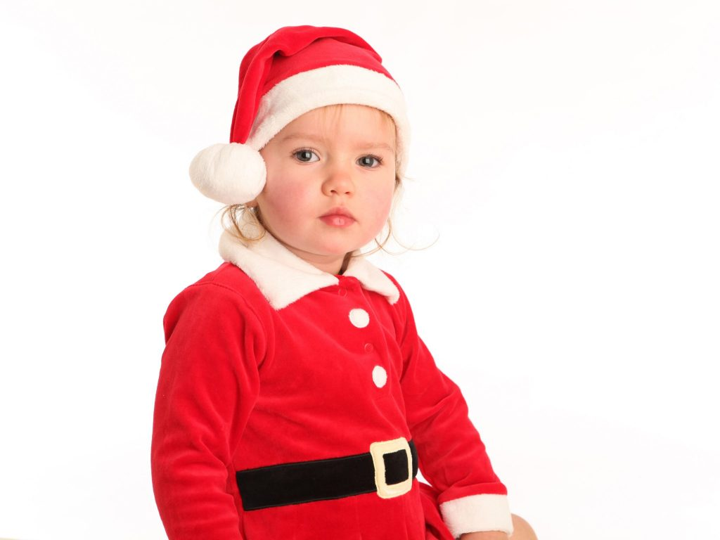 Family portrait little girl in Santa dress www.1portrait.ie Christmas gift voucher