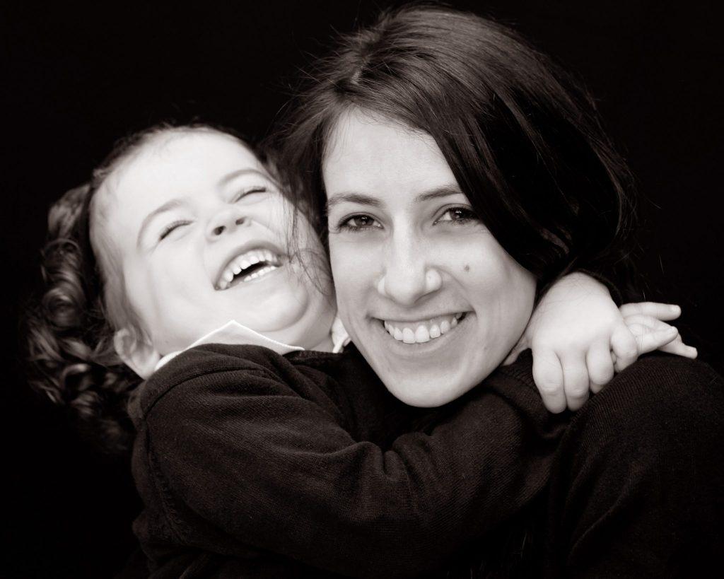 Mother's Day Photo Gift little girl hugging mother family studio photography dublin www.1portrait.ie