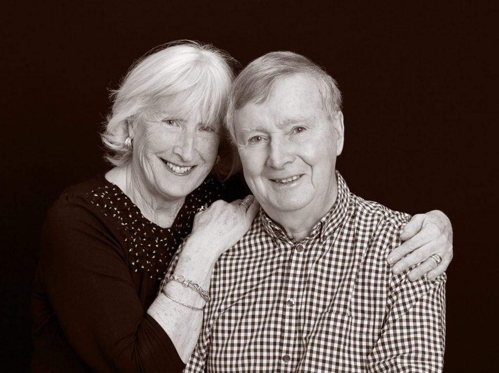 B&W portrait of couple. Wedding Anniversary & Family Portrait Photography Gift Voucher