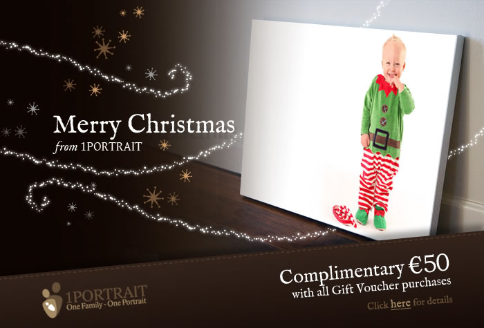 Family Portrait Photography Studio Christmas Gift Vouchers