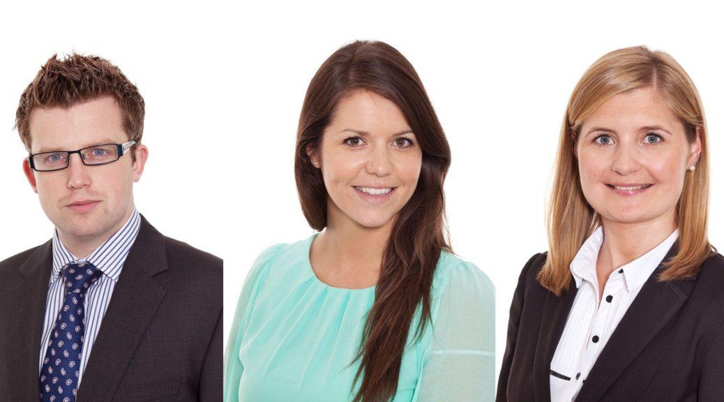 LinkedIn Headshot. Professional studio portrait of 3 individuals. Corporate profile with white background www.1portrait.ie